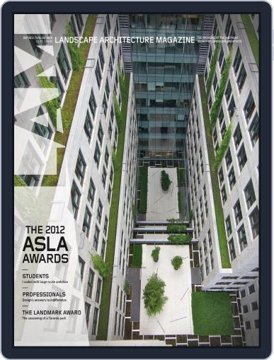 Landscape Architecture August 27th, 2012 Digital Back Issue Cover