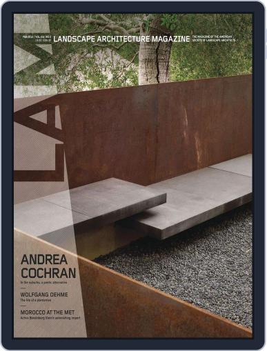 Landscape Architecture (Digital) January 30th, 2012 Issue Cover