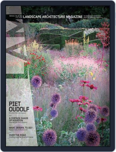 Landscape Architecture (Digital) March 1st, 2011 Issue Cover