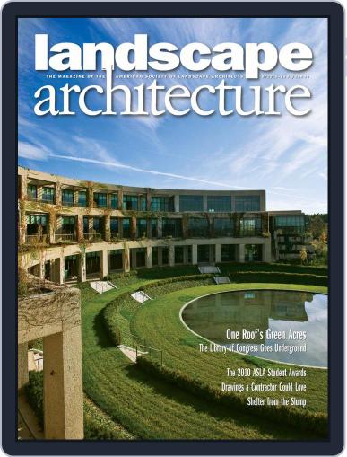 Landscape Architecture (Digital) August 26th, 2010 Issue Cover