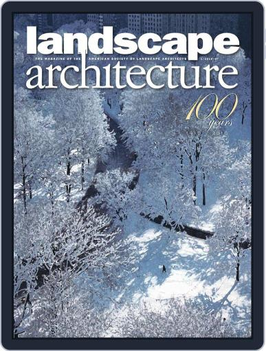 Landscape Architecture (Digital) December 23rd, 2009 Issue Cover