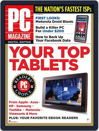 Pc September 29th, 2011 Digital Back Issue Cover