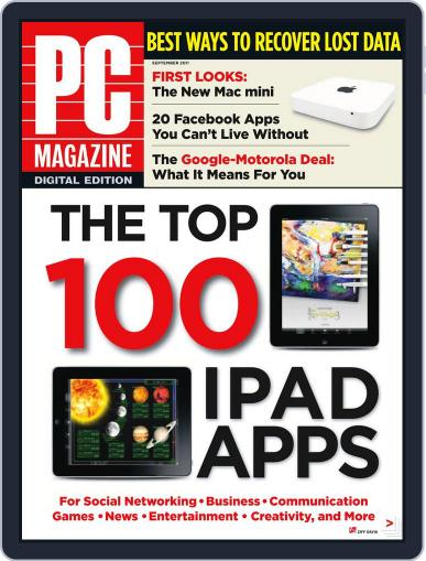 Pc August 29th, 2011 Digital Back Issue Cover
