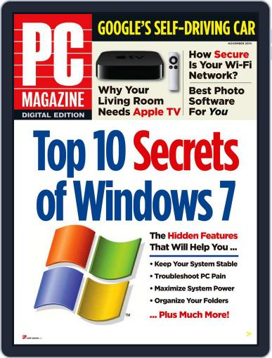 Pc (Digital) October 31st, 2010 Issue Cover