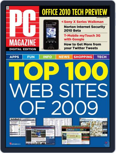 Pc August 24th, 2009 Digital Back Issue Cover