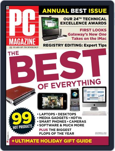 Pc (Digital) November 9th, 2007 Issue Cover