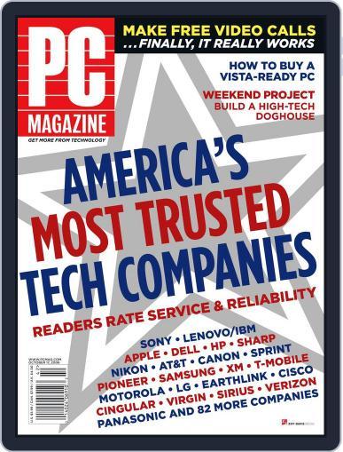 Pc (Digital) September 21st, 2006 Issue Cover