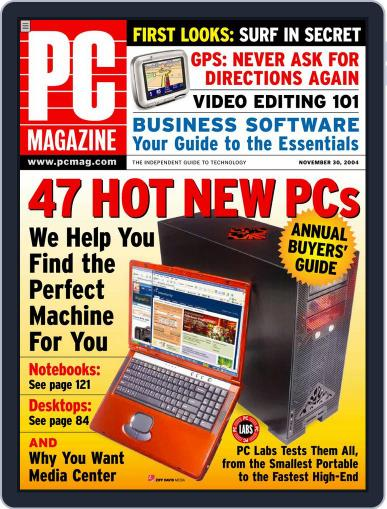 Pc (Digital) November 5th, 2004 Issue Cover