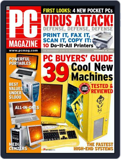 Pc (Digital) October 31st, 2003 Issue Cover