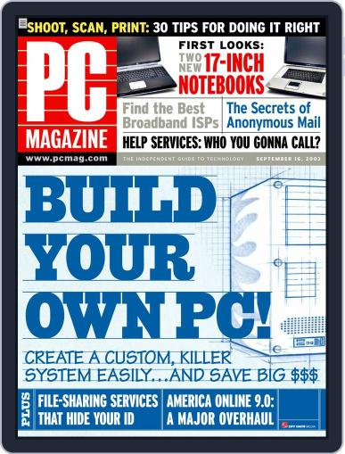 Pc (Digital) August 23rd, 2003 Issue Cover