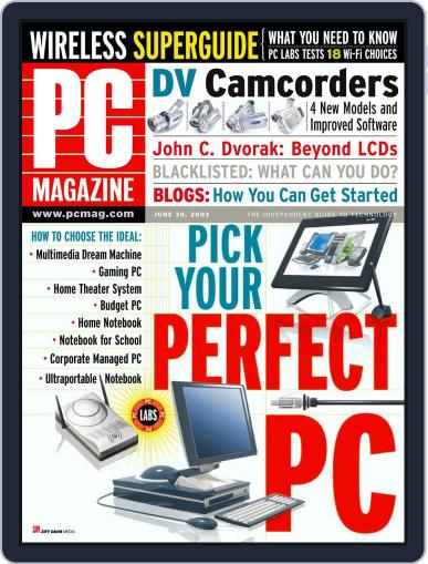 Pc (Digital) June 6th, 2003 Issue Cover