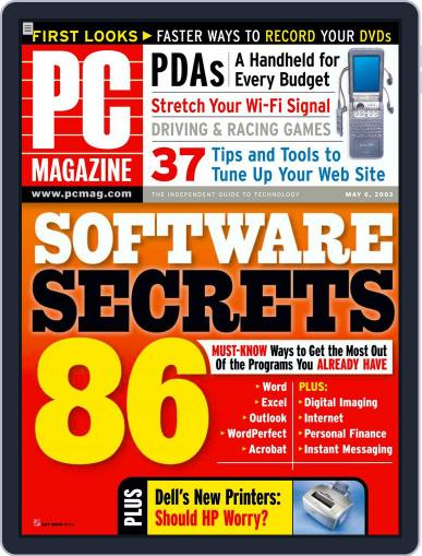 Pc April 12th, 2003 Digital Back Issue Cover