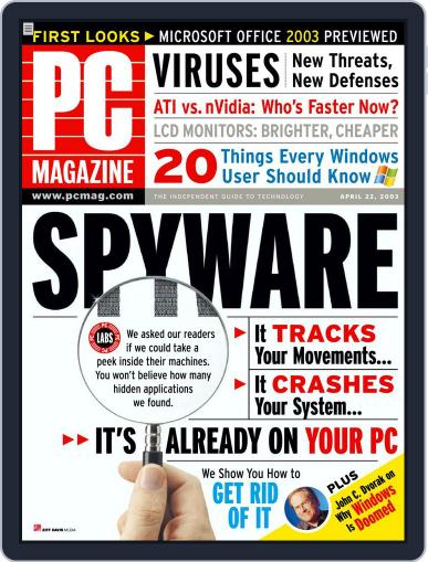 Pc March 26th, 2003 Digital Back Issue Cover
