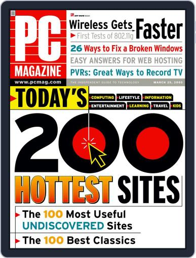 Pc February 28th, 2003 Digital Back Issue Cover