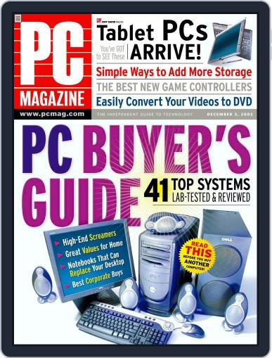 Pc (Digital) November 8th, 2002 Issue Cover