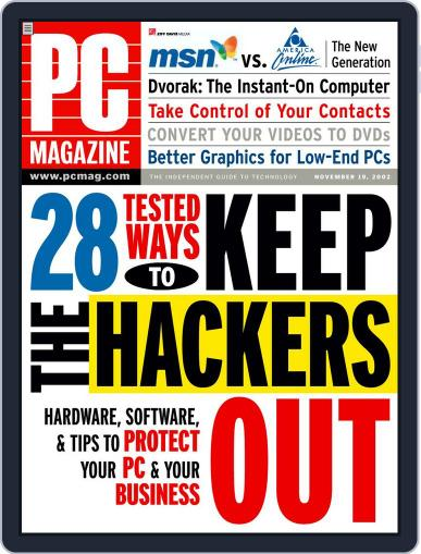 Pc October 25th, 2002 Digital Back Issue Cover