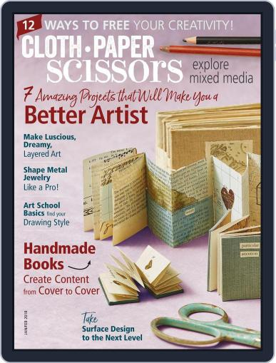 Cloth Paper Scissors January 1st, 2018 Digital Back Issue Cover