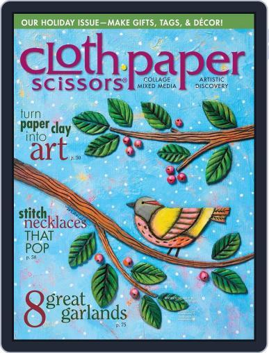 Cloth Paper Scissors (Digital) October 21st, 2015 Issue Cover