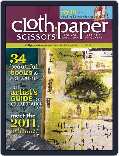 Cloth Paper Scissors June 12th, 2012 Digital Back Issue Cover