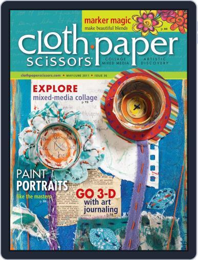 Cloth Paper Scissors April 25th, 2011 Digital Back Issue Cover