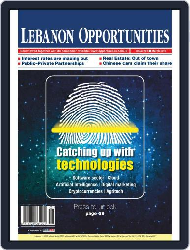 Lebanon Opportunities March 1st, 2019 Digital Back Issue Cover