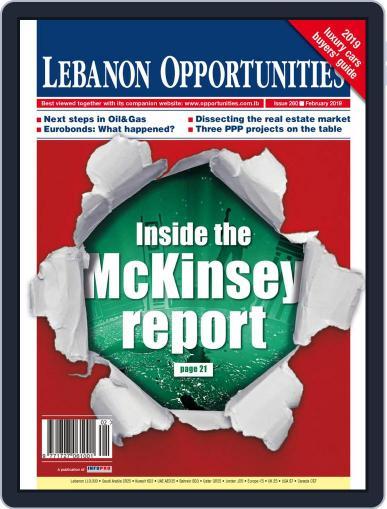Lebanon Opportunities February 1st, 2019 Digital Back Issue Cover