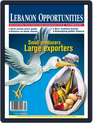 Lebanon Opportunities August 5th, 2016 Digital Back Issue Cover