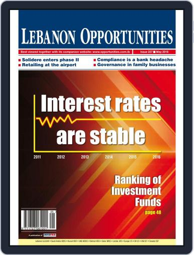 Lebanon Opportunities May 1st, 2016 Digital Back Issue Cover