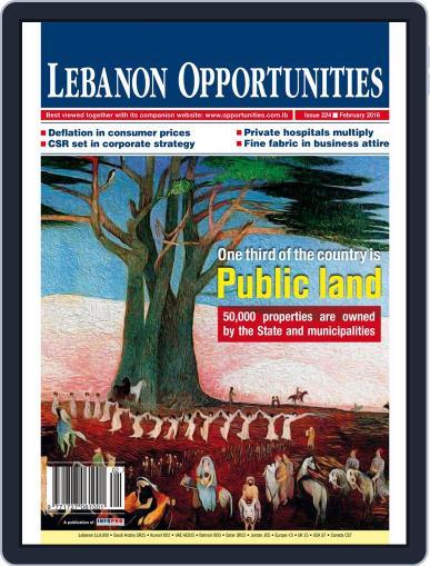 Lebanon Opportunities February 1st, 2016 Digital Back Issue Cover