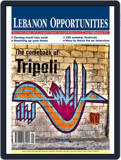 Lebanon Opportunities September 14th, 2015 Digital Back Issue Cover
