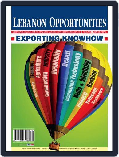 Lebanon Opportunities September 5th, 2013 Digital Back Issue Cover