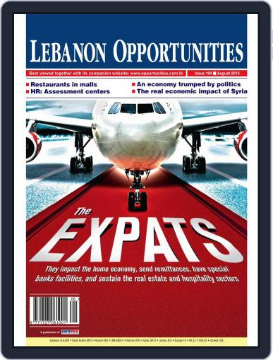 Lebanon Opportunities August 5th, 2013 Digital Back Issue Cover