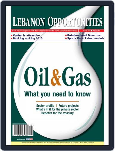 Lebanon Opportunities May 3rd, 2013 Digital Back Issue Cover