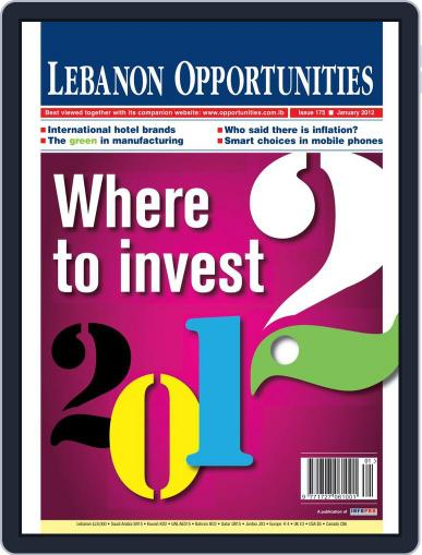 Lebanon Opportunities January 10th, 2012 Digital Back Issue Cover