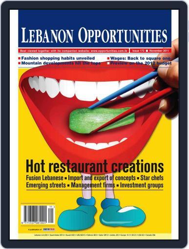 Lebanon Opportunities (Digital) November 4th, 2011 Issue Cover
