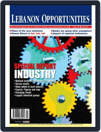 Lebanon Opportunities July 7th, 2011 Digital Back Issue Cover