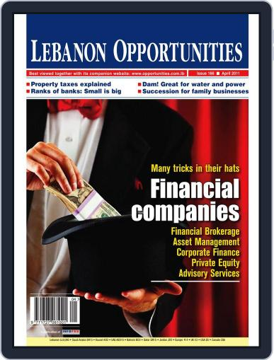 Lebanon Opportunities April 5th, 2011 Digital Back Issue Cover