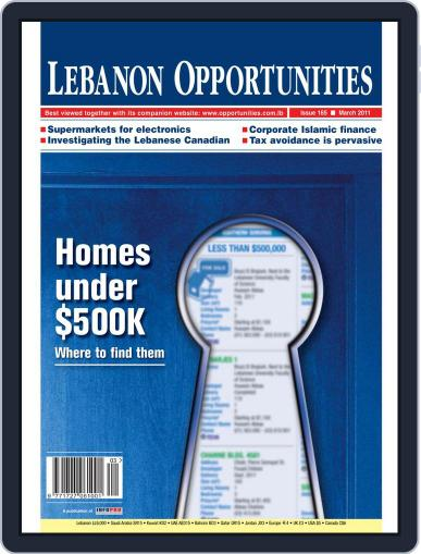 Lebanon Opportunities March 13th, 2011 Digital Back Issue Cover