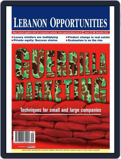 Lebanon Opportunities December 7th, 2010 Digital Back Issue Cover