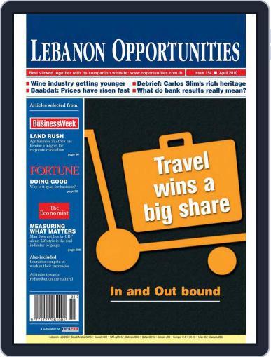 Lebanon Opportunities April 1st, 2010 Digital Back Issue Cover