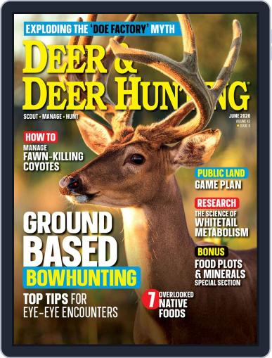 Deer & Deer Hunting June 1st, 2020 Digital Back Issue Cover