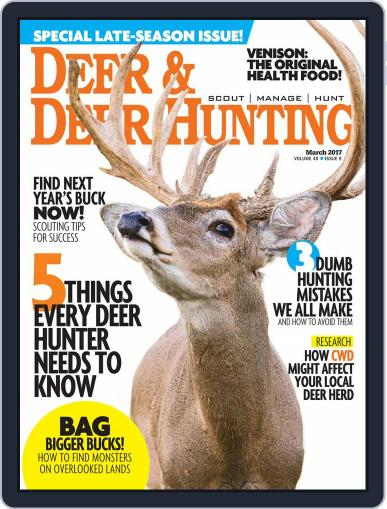 Deer & Deer Hunting March 1st, 2017 Digital Back Issue Cover