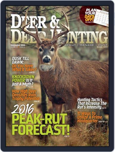 Deer & Deer Hunting (Digital) November 1st, 2016 Issue Cover