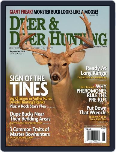 Deer & Deer Hunting (Digital) August 6th, 2013 Issue Cover