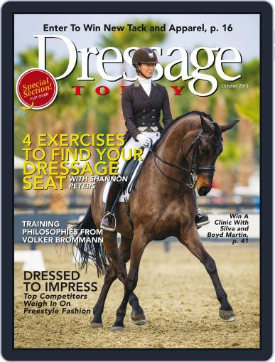 Dressage Today (Digital) October 1st, 2015 Issue Cover
