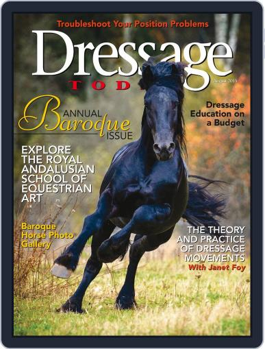 Dressage Today August 1st, 2015 Digital Back Issue Cover