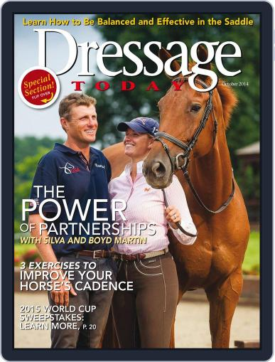 Dressage Today September 30th, 2014 Digital Back Issue Cover