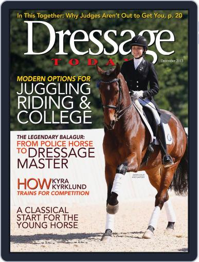 Dressage Today (Digital) November 26th, 2013 Issue Cover