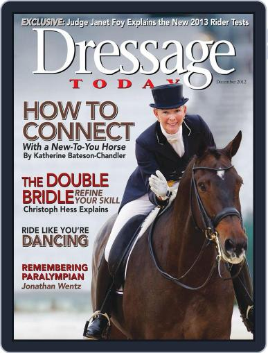 Dressage Today November 12th, 2012 Digital Back Issue Cover