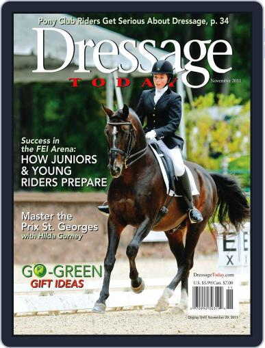 Dressage Today (Digital) October 25th, 2011 Issue Cover